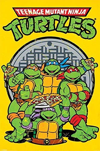 Pyramid International Teenage Mutant Ninja Turtles Retro Characters Poster 24x36 Inch