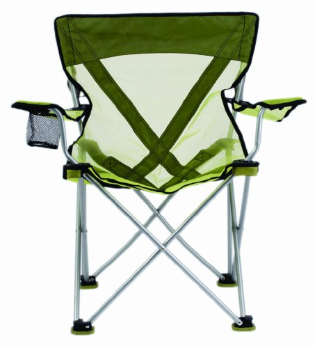 TravelChair Teddy Folding Camp Chair with Sheer Nylon Mesh for Hot Days, Lime