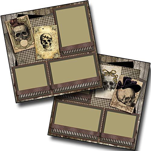 Pretty Creepy Skulls - Halloween - Premade Scrapbook Pages - EZ Layout 3416 -