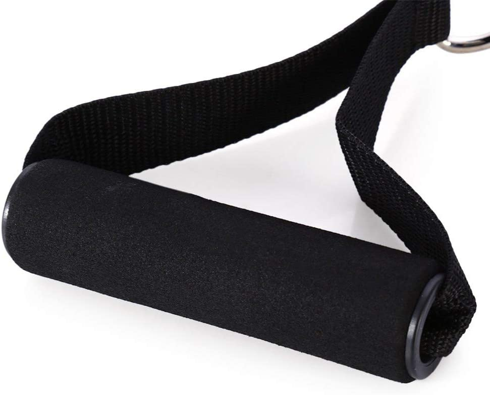 Bigsweety D-Ring Fitness Resistance Elasticity Pull Rope Cable Bar Elastic String Foam Handle Fitness Equipment