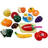 Liberty Imports Kitchen Fun Cutting Fruits & Vegetables Food Playset for Kids