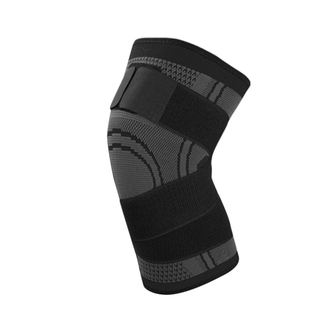 Fantasyworld 3D Pressurized Fitness Bandage Knee Support Brace Elastic Nylon Sports Compression Pad Sleeve for Running Cycling