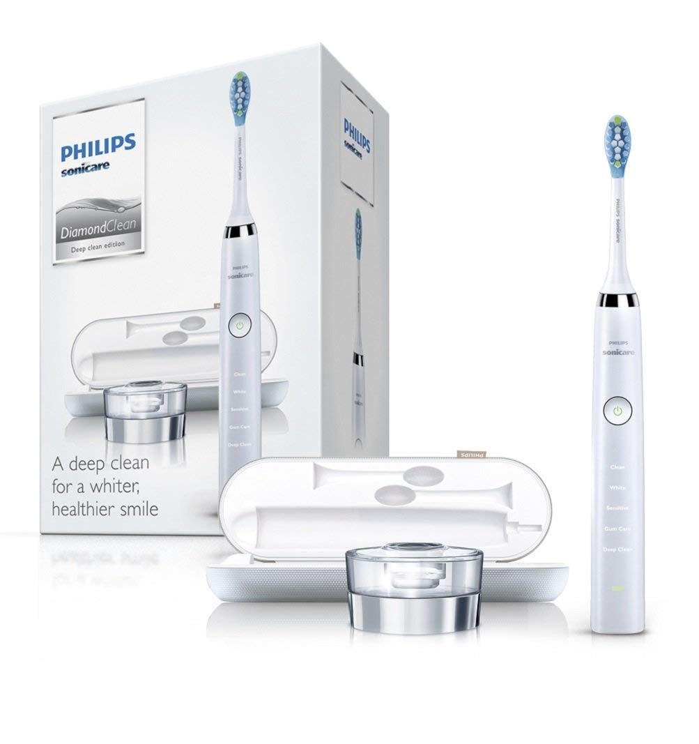 Philips Sonicare HX9332 04 DiamondClean Rechargeable Toothbrush White   Amazon.co.uk  Health   Personal Care 9e756c660a9ce