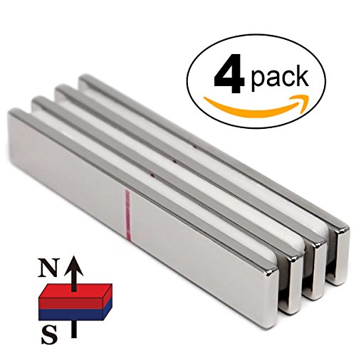 4 Pieces of CMS Magnetics Super Strong Neodymium Rare Earth Magnet 3'' x 1/2'' x 1/8'' Grade N45. For DIY Stamping Using Creative Corners from Misti by CMS Magnetics