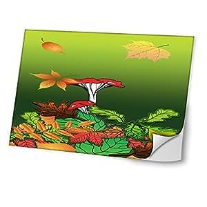 Otoño 10010, Seta, Diseño Mejor Pegatina de Vinilo Protector con Efecto Cuero Extraíble Adhesivo Sticker Skin Decal Decorativa Tapa con Diseño Colorido para Portátil 17''.