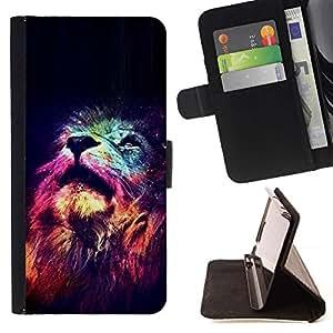 Momo Phone Case / Flip Funda de Cuero Case Cover - Universo Estrellas Profundo Significado África - Samsung Galaxy S5 Mini, SM-G800