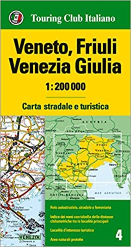 Veneto Cartina Geografica Dettagliata.Amazon It Veneto Friuli Venezia Giulia 1 200 000 Carta