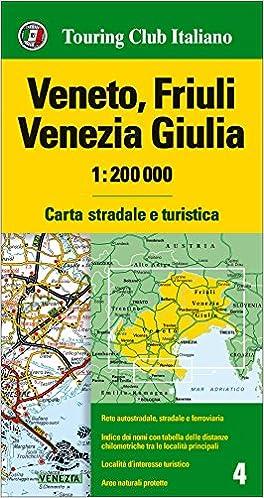 Cartina Stradale Venezia.Amazon It Veneto Friuli Venezia Giulia 1 200 000 Carta Stradale E Turistica Ediz Multilingue Aa Vv Libri In Altre Lingue