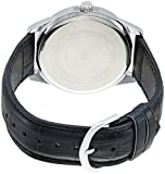 Casio MTP-V005L-7A Mens Black Leather Dress Watch SilverDial