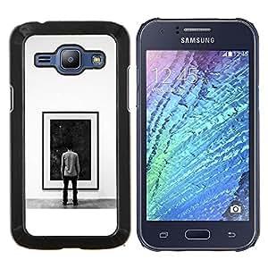 GIFT CHOICE / Teléfono Estuche protector Duro Cáscara Funda Cubierta Caso / Hard Case for Samsung Galaxy J1 J100 // Deep Space Painting //