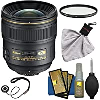 Nikon 24mm f/1.4 G AF-S Nikkor Lens with Filter + Kit for D3200, D3300, D5300, D5500, D7100, D7200, D610, D750, D810, D4s DSLR Camera
