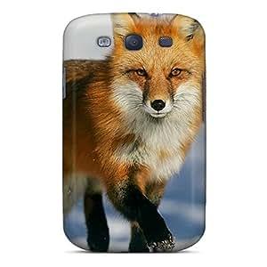 New Premium Flip Case Cover Fox Skin Case For Galaxy S3