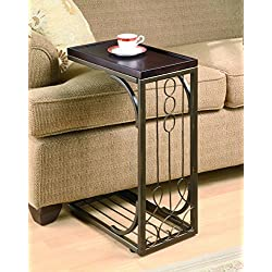 Coaster Traditional Brown Snack Table