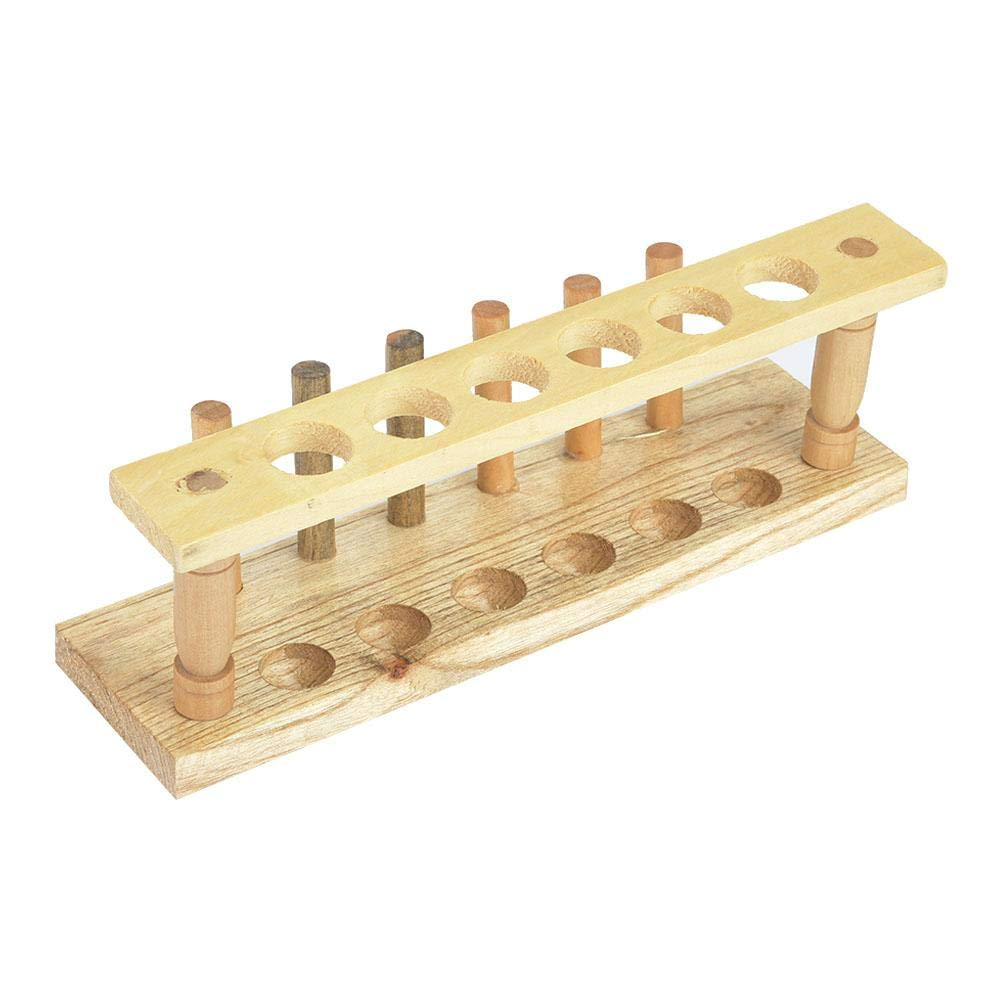 Wooden Test Tube Rack 6//8//10//12 Hole Test Tube Holder Chemical Laboratory Tool 10 Holes