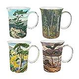 McIntosh MC020011 Group of Seven Mugs (Set of 4), Multicolor