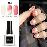 Oksale® 7ML Temperature Change Gel Nail Polish Nail Art Gel Polish UV LED Gel/30 Colors (T16)