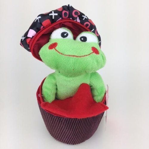 - Frog in Cupcake Valentines Day Plush Gift Card Holder