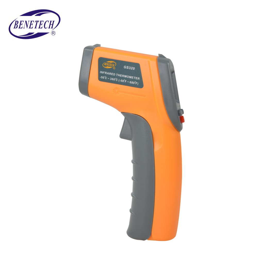 Topker GS320 Digital IR Infrared Thermometer Non-Contact Temperature Meter -50~360? -58~680? Pyrometer