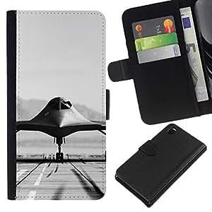 NEECELL GIFT forCITY // Billetera de cuero Caso Cubierta de protección Carcasa / Leather Wallet Case for Sony Xperia Z3 D6603 // B51 bombardero de la cautela