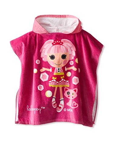 (MGA 'Lalaloopsy' Jewel Hooded Bath Beach Swim Poncho Towel, Pink,)