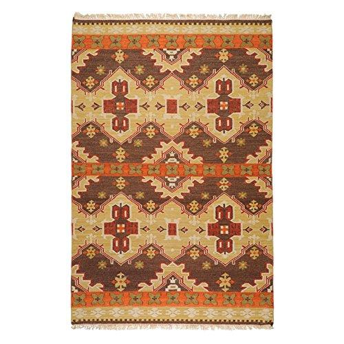 811 Cocoa (Surya Jewel Tone II JTII-2035 Transitional Hand Woven 100% Hard Twist Wool Hot Cocoa 8' x 11' Southwest Area)