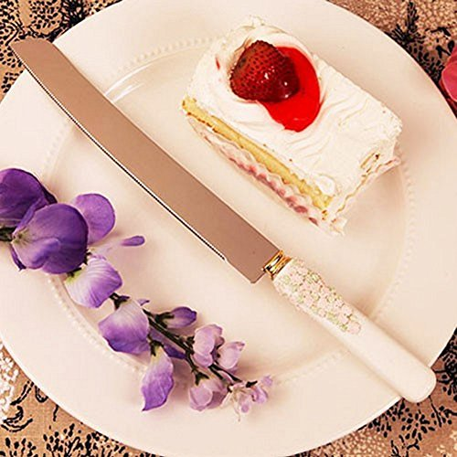 Floral Handle Cake Knife - Set of 36 by R & B