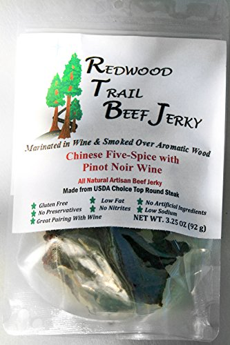 Redwood Trails Beef Jerky - Chinese Five Spice (3 Bags)