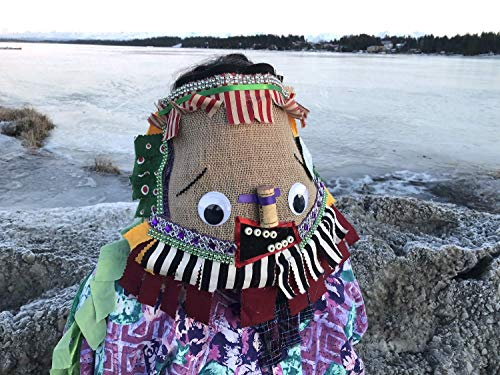Cajun Courir de Mardi Gras Mask - Traditional Mardi Gras Chicken Chase Mask