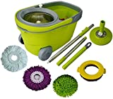 shark s3501 n pads - Green Direct Spin Mop and Bucket Deluxe Cleaning System with Microfiber Head, Easy Spinning Wringer