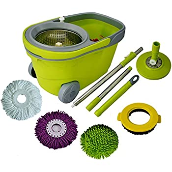 Amazon Com 360 Degree Spin Mop Amp Spin Dry Bucket Color