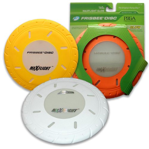 Wham-O Max Flight Glow Frisbee Disc (Colors Vary)