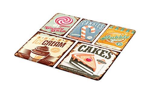 Lunarable Vintage Cutting Board, Nostalgic 50s Sweet Candy S