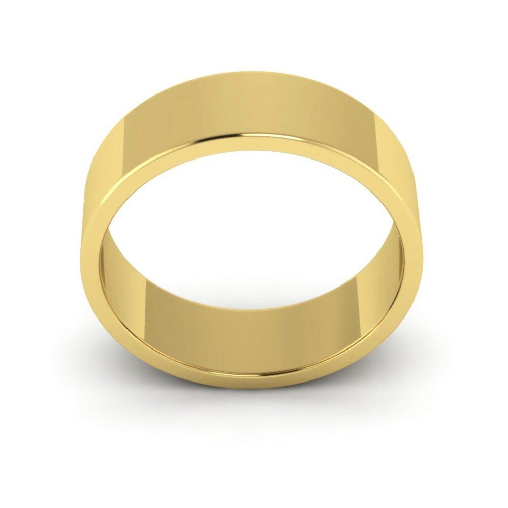 10K Yellow Gold mens and womens plain wedding bands 6mm flat