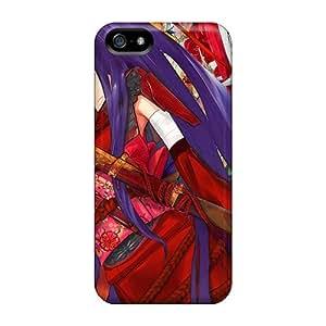For Iphone 5/5s Premium Tpu Case Cover Samurai Girl In Kimono Protective Case