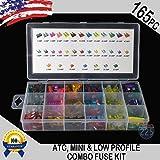 165 Pack Fuse Blade Assortment Kit - ATC/APR - ATM/APM Mini - Low Profile Mini - Auto Car Motorcycle SUV FUSES Kit