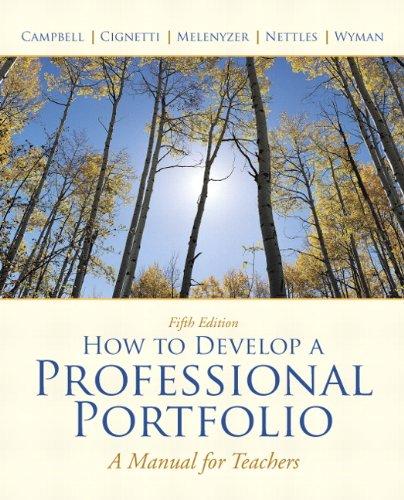 How to Develop a Professional Portfolio: A Manual for...