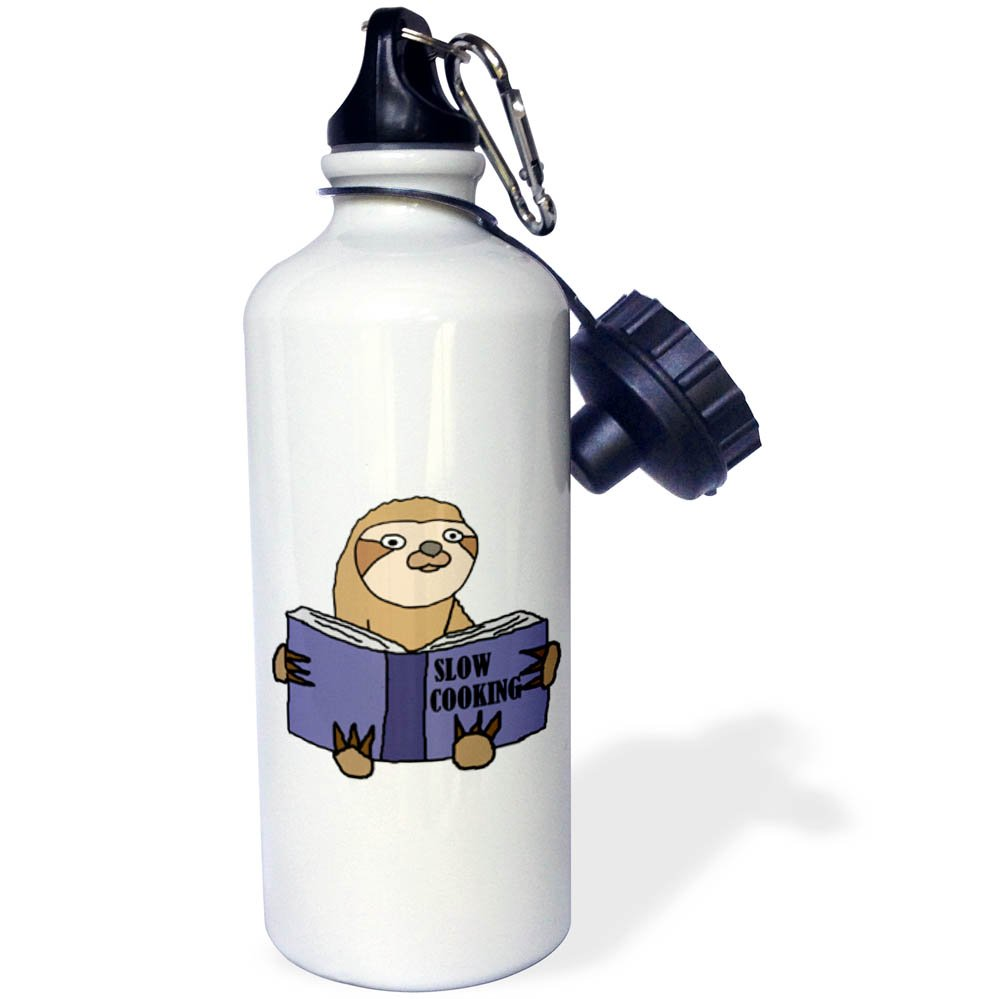 3D Rose 1 wb/_255682/_1 Sports Water Bottle White 21 oz
