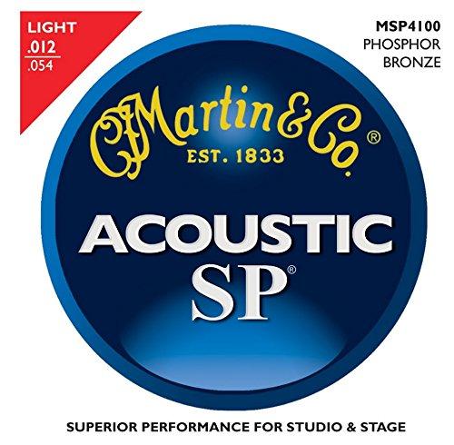 Martin Msp4100 Light - Martin MSP4100 SP acoustic guitars strings Phosphor Bronze 12-54