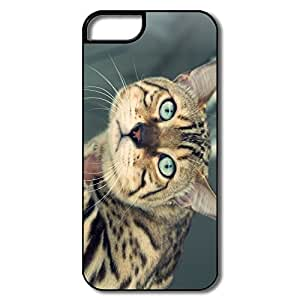 PTCY IPhone 5/5s Personalized Geek Funny Cat