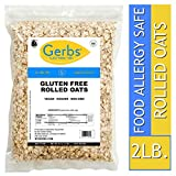 Gerbs Gluten Free Rolled Oats - 2 LBS - Top 14 Allergen Free & NON GMO - Vegan, Keto Safe & Kosher - Grown in USA Dedicated Farm