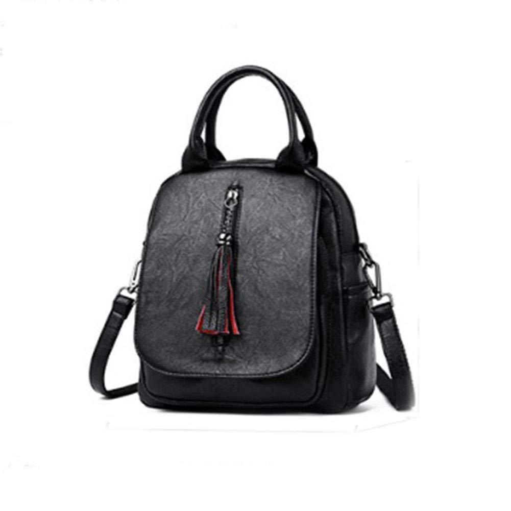 MMTC Women's Bag Women's Backpack Leather MultiPurpose Tassel Backpack Travel Student Bag