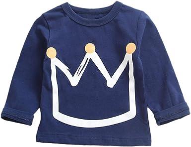 K-youth Camiseta para Niños Blusas Niña Tops de Manga Larga Niña Camiseta Niñas Corona Impresión Ropa de Niña Chicas Chicos Ropa Bebé Niña Invierno Moda: Amazon.es: Ropa y accesorios