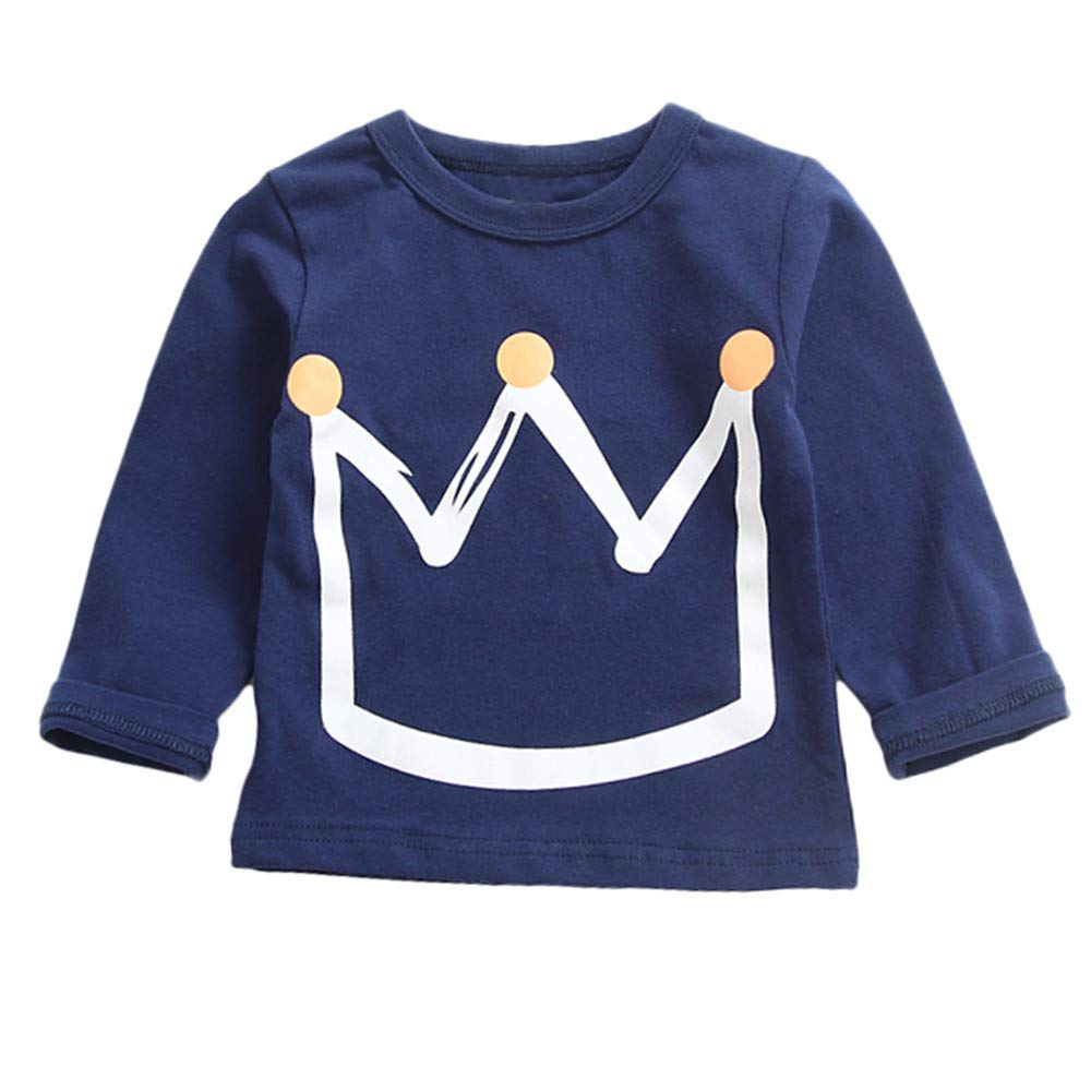 Kids Tops Binmer Boys Girls Crown Print Long Sleeve Pullover Sweatshirt Tops Winter Clothes Outfits Binmer_baby clothes Kangdanielkda-0450