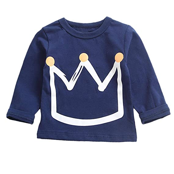 K-youth Camiseta para Niños Blusas Niña Tops de Manga Larga Niña Camiseta Niñas Corona