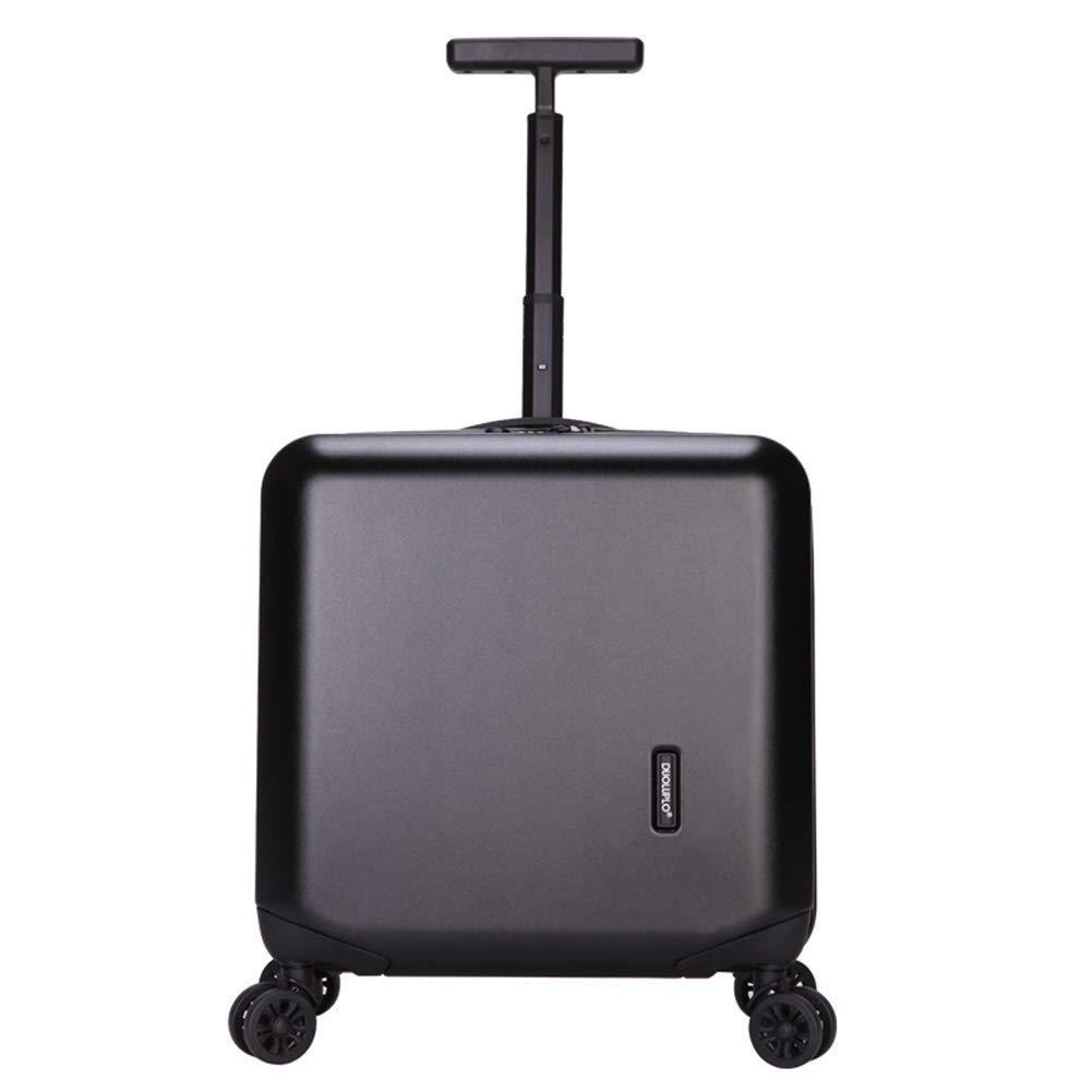 小型トロリーケース、360°ミュートキャスターファッションパーソナライズされたビジネストロリーケース。 サイズ(42.5 * 24 * 41.5CM) B07SFTWXQD Black
