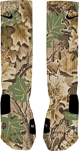 Custom Camo (Camo Custom Nike Elite Socks (Medium 6-8))