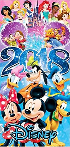"Disney's 2018 Full Cast Beeach Towel 28"" X 58"" Multicolored price tips cheap"