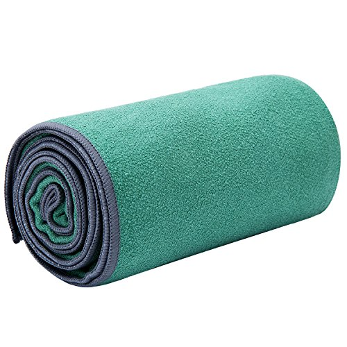 JKMEOO Microfiber Hot Yoga Towels, Sweat Absorbent Non-Slip Bikram Yoga Mat Towels for Hot Yoga,...