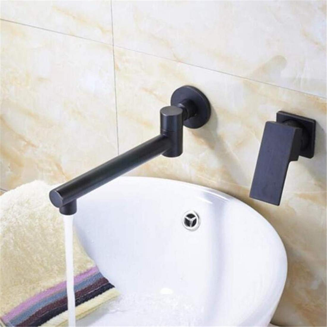 Faucet Chrome Single Handle Contemporary Kitchen Faucet Design Oil Rubbed Bronze Bathroom Countertop Faucet with Hot Cold Water Faucet