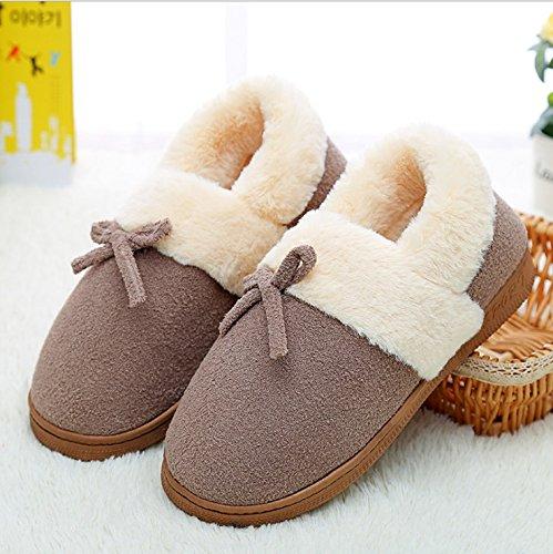 Scarpe Donne Slip E Coppie Pantofole Caldo Inverno Anti Di Ymfie Uomini Cotone OtwqvOf